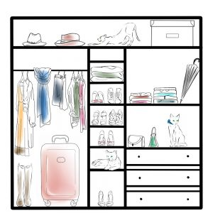 Przegląd szafy przez osobistą stylistkę