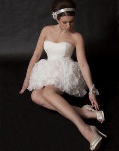 Przykład stylizacji ślubnej wykonanej na kursie dla stylistów