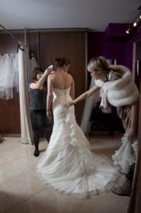 Stylizacja ślubna wykonana na kursie stylizacji ślubnej